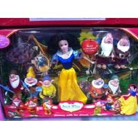 白雪公主和七个小矮人大礼盒装 芭比娃娃洋娃娃女孩的玩具