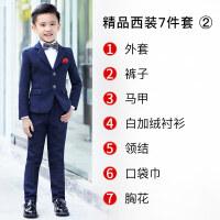 儿童西装套装三件套帅气小花童男礼服小孩男童小西装2018新款休闲