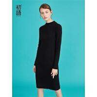 【春节不打烊,2件3折价:100.2元】初语秋装新款 小高领X型修身多色打底毛衣裙