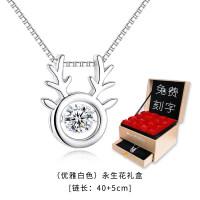 925银锁骨链项链女森系麋鹿学生韩版首饰品吊坠送闺蜜生日礼物