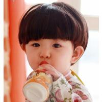 小男孩全头假发 儿童波波头假发 中性摄影儿童假发 蘑菇头假发