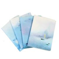 创意本子 水之梦口袋本 创意文具随身笔记本 记事本子A6 4本装 图案随机
