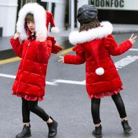№【2019新款】小朋友穿的女童棉衣2018新款冬装韩版大童装棉袄外套中长款羽绒