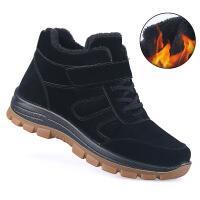 №【2019新款】冬天老年人穿的老北京布鞋男棉鞋加绒男棉靴中老年软底休闲鞋爸爸鞋