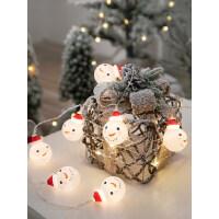 雪人灯串装饰用品圣诞节创意圣诞树挂件店铺店内橱窗商场场景布置