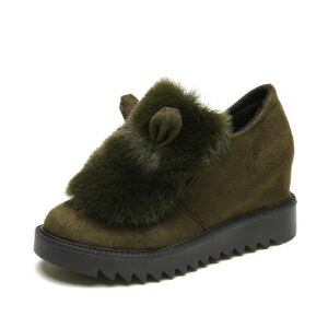 WARORWAR新品YM104-689秋冬韩版内增高女士深口单鞋雪地靴