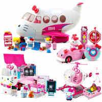 Hello Kitty小车凯蒂猫儿童汽车救援飞机交通工具女孩玩具车模型