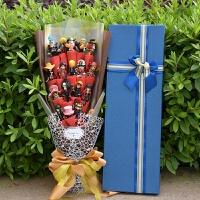情人节送男友男朋友生日礼物特别男生个性diy男士礼品浪漫的 大礼盒海贼咖啡色红绵纸 60*20cm