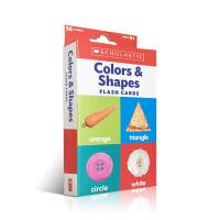 英文原版 Colors & Shapes 颜色与形状 丰富多彩的双面闪卡片 3-6岁儿童幼儿英语启蒙认知早教 提高儿童