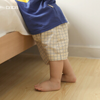 儿童短裤 夏季薄款男女宝宝透气吸汗格子短裤