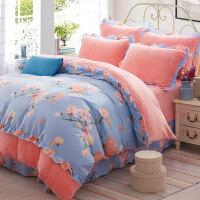 加厚冬季保暖韩版珊瑚绒四件套法莱绒法兰绒床单被套床上用品1.8m