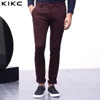 kikc休闲裤2018新款男士裤子韩版时尚男青年纯色修身小脚长裤潮流