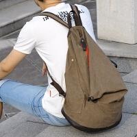 天天韩版时尚个性男女士双肩包休闲帆布大容量书包背包旅行包