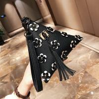 三角包女新款手提包粽子包迷你荔枝纹小包个性手拿包韩版女包