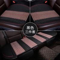汽车坐垫四季通用亚麻荞麦壳小蛮腰单座冬季无靠背三件套单片座垫