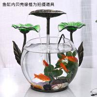 招财家居小型流水鱼缸客厅喷泉摆件装饰品加湿器创意生日开业礼品