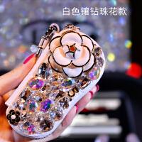 车载钥匙包通用型韩国可爱女士时尚创意镶钻车用钥匙包汽车钥匙套
