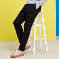 【狂欢返场,专区1件3折】美特斯邦威休闲裤男直筒韩版2018春装新款韩版长裤都市青年百搭