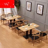 【支持礼品卡】小吃店桌椅组合简约现代咖啡厅奶茶火锅食堂餐饮饭店休闲快餐桌椅3zh