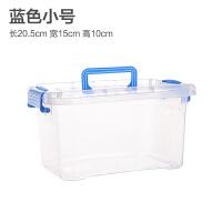 透明收纳箱整理箱塑料箱子有盖大小号手提储物箱衣物收纳盒 请按照颜色需要选择