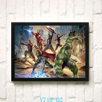 复仇者联盟电影海报装饰画挂画漫威英雄酒吧墙画壁画有框画组合