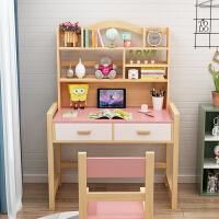 20191223124332330实木儿童学习桌椅套装小学生写字桌可升降书桌家用作业桌松木课桌