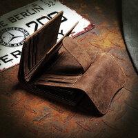 定制复古青年个性短款竖款钱夹时尚刻字钱包新款时尚潮男皮夹
