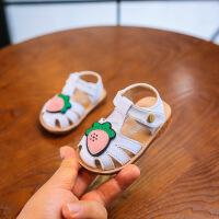 女宝宝休闲真皮凉鞋子2019夏季新款韩版卡通公主软底鞋婴儿学步鞋