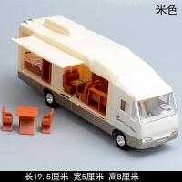 多合金豪华房车模型 儿童玩具小汽车仿真旅行房车回力