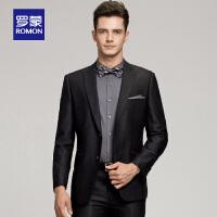 Romon/罗蒙男士修身西装职业装新款结婚新郎伴郎礼服商务西服休闲套装
