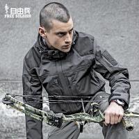 户外冲锋衣男三合一外套 防水防风登山服 透气加秋冬套装