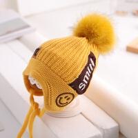 儿童帽子冬季毛线帽护耳男女童1-5岁2加绒保暖宝宝针织帽潮3韩版4 均码