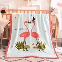 ???法莱绒毛毯夏季薄款空调毯办公室午睡小毯子冬季加厚幼儿园盖毯被 +手提袋