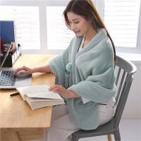 创意毛毯披肩斗篷懒人毯珊瑚绒毯子单人宿舍学生午睡加厚保暖冬季 65*170cm