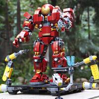 兼容乐高复仇者联盟3钢铁侠拼装积木反浩克机甲男孩玩具模型装甲