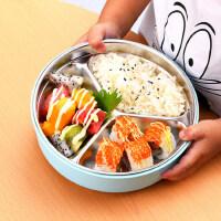 儿童餐具不锈钢餐盒分隔餐盘宝宝分格便当盒小学生幼儿园饭盒防烫