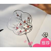 春��晚原创复古金属书签镂空团扇学生用送老外古风古典中国风礼品