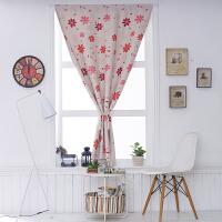 窗帘成品免打孔安装简约现代遮光出租房卧室宿舍简易小窗帘魔术贴
