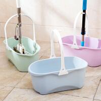 塑料长方形拖把桶加厚大水桶提水桶家用储水塑料桶手提平板拖布桶