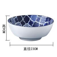 美国青花花卉陶瓷釉中彩装饰餐具西餐盘沙拉平盘碗
