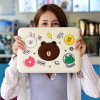 布朗熊苹果电脑包macbook笔记本air13.3寸pro手提15.6内胆包女mac