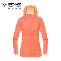 诺诗兰2018春夏防晒皮肤衣户外女式UPF50+防紫外线风衣 GL072110