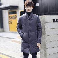 2018冬季新款羽绒服男中长款加厚修身韩版男士外套青年立领男装潮