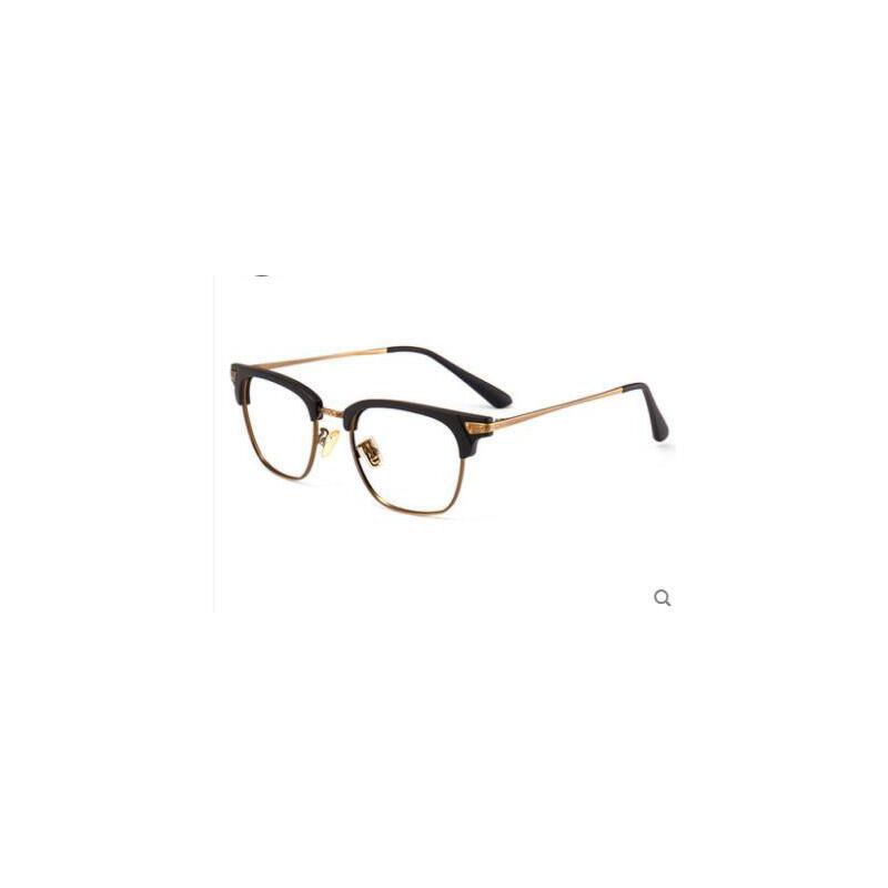 半框眼镜男配成品蓝光日系眼镜复古平光男大脸眼镜架女近视眼镜框 品质保证,支持货到付款 ,售后无忧