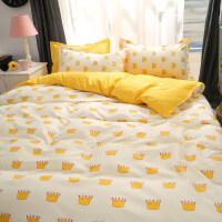 韩式学生宿舍三件套单人床单1.5/1.8/2.0/1.2m被套卡通床上四件套