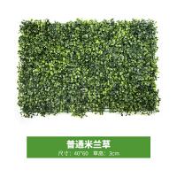 仿真植物墙草坪室内装饰花背景墙门头装饰墙面草皮绿植花墙假植物 乳白色 普通米兰草