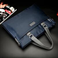 男包手提包商务公文包横款男士包包帆布包休闲电脑背包