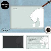 三星电脑贴纸270E4V贴膜275E4V 275E4E笔记本保护膜14寸外壳膜 SC-928 三面+键盘贴