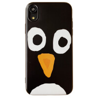 ins网红趣味可爱企鹅苹果xs7iphonexr手机壳max6s8plus硅胶软壳女 6/6s 4.7 IMD挡脸企鹅