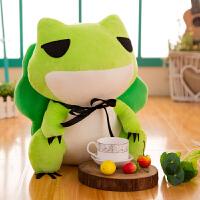旅行中的少女心青蛙公仔抱枕毛绒玩具布娃娃可爱ins玩偶女生礼物